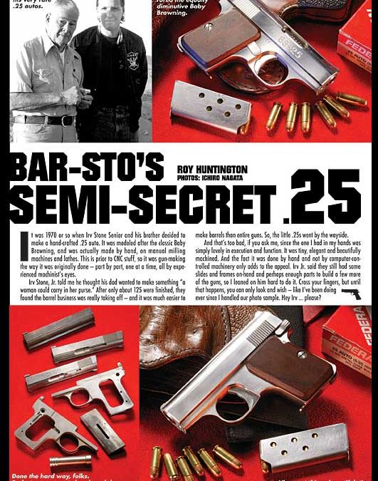 American Handgunner article about the Bar-Sto .25